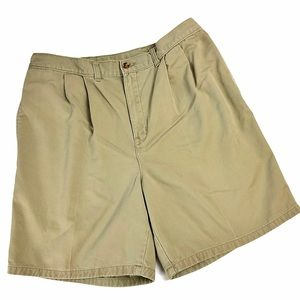 Vintage Dad Shorts Pleated Khakis Frat Prep School